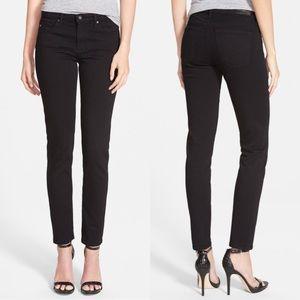 AG black Prima Mid Rise Cigarette skinny jeans